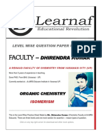 Isomerism Level Wise Practice Sheet by Mr. Dhirendra Kumar for Class 11th Chemistry