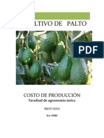 Costo de Produccion Del Cultivo de Palta Hass.xlsx