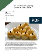 Cara Membuat Kue Nastar Keju Yang Lembut Dan Lumer Di Mulut