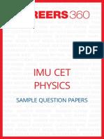 Physics Imu Cet