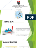 Matriz BCG y Merchandising