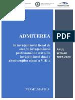 Brosura ISJ Neamt Admitere 2019 2020
