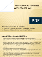 Popoiu - Orthopedic and Surgical Features in Patients With Prader Willi Syndrome