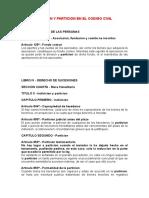 01 - Division y Particion en El Codigo Civil
