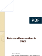 Behavioral Interventions in PWS