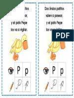 Letra p Patito