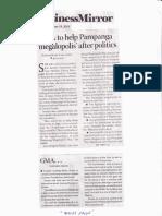Business Mirror, June 19, 2019, GMA to help Pampanga megalopolis after politics.pdf