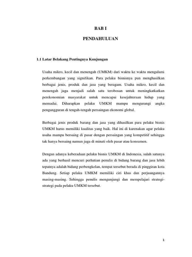 Makalah Tentang Umkm Di Indonesia