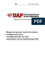 Manual de Primer Inicio de Sesión y Configuración