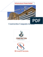 Constuction Companies In India- Svarrnim Infrastructure