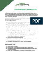 Business Development Manager - Job Description