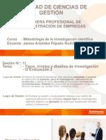 Sesión 11_Niveles y Diseños de Investigación