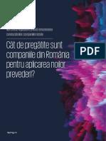Cât de Pregătite Sunt Companiile Din România Pentru Aplicarea Noilor Prevederi