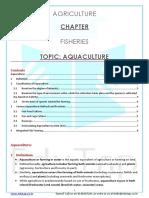 Fisheries Content Sheet Aquaculture