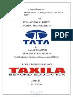 Sagar Bhamare Tata Motors