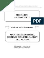 89000039 Mantenimiento de Sistema de Lubricación Del Motor