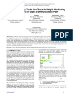 Design of Survey Tools for Obstacle Height Monitoring on the Line of Sight Communication Path