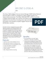 Nokia 7368 ISAM ONT G-010G-A for Optical LAN Data Sheet En