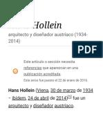 Hans Hollein - Wikipedia, La Enciclopedia Libre
