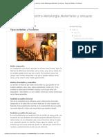 Visita Tecnica Centro Metalurgia Materiales y Ensayos_ Tipos de Moldes y Fundicion