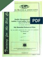 Certificate QMS