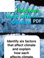 Types of Climate and Factors Affecting Climate Final