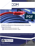 MILCOM ICT20315 - Certificate II in Telecommunications Technology