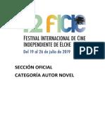 42 Festival Internacional de Cine Independiente de Elche. Sección Oficial. Autor Novel. Fundación Caja Mediterráneo