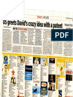 Times  of India news = US Patent-1