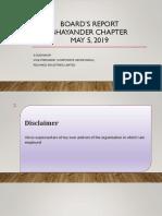 BOARD's REPORT - Bhayander Chapter 5.5.2019 - CS S Sudhakar