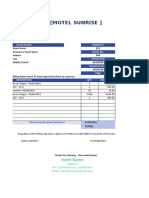Hotel Invoice Sample 7