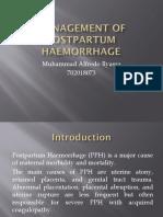 Management of Postpartum Haemorrhage