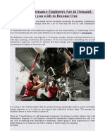 Aircraft Maintenance Engineers Are in Demand - What You Wish to Become One