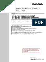 Motoman-gp8 Ar700,-Gp7 Ar900 Instructions