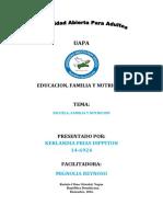 Educacion Familia y Nutricion. Trab. Final
