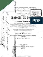 Estudios Sobre La Geología de Bolivparte I