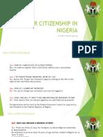 Faq for Citizenship in Nigeria