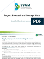 Project Proposal and concept note