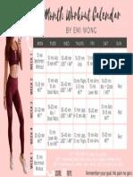 Emi Wong 1 Month Workout Plan