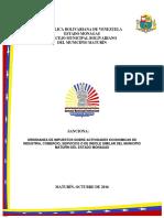 Ordenanza de Actividades Económicas 2016 Maturin
