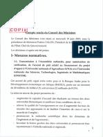 Conseil Des Ministres Du 19 Juin 2019