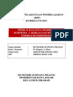 RPP Tugas Akhir Tematik