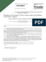 Phytodiversity the Group to Pistacia Atlantica Desf in the Saharan Atlas Bechar Algeria