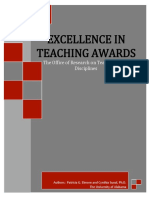 2018-2019 excellence in teaching manuscript