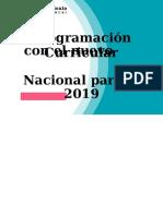 Programación Curricular Con El Nuevo Currículo Nacional Para El 2019 Secundaria