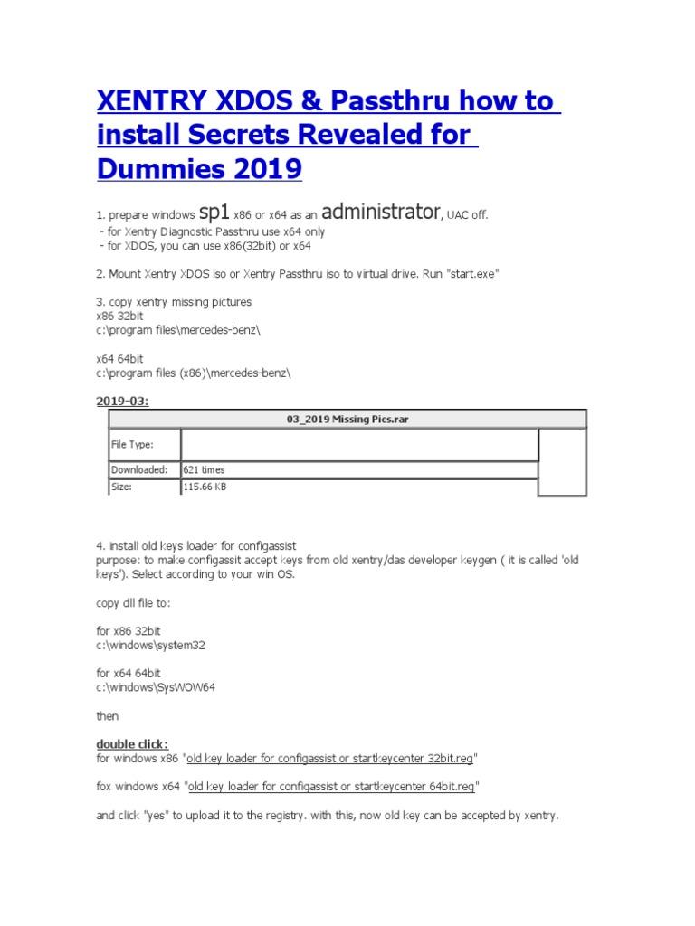 Instalacion Xentry XDOS y Pass Trhu | Computer File | File Format