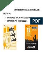 Exposicion de Trabajos de Oratoria en Aula de Clases (2)