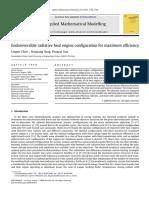 Endoreversible Radiative Heat Engine Configuration for Maximum Efficiency