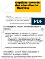Misconceptions Towards Inclusive Education in Malaysia