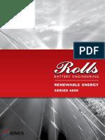 SINES Rolls Batterie ouverte série 4000